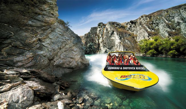 jetboat on a river
